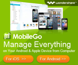 Wondershare MobileGo android and iOS manager